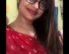 Sexy desi indian chick equally the brush back relative to me in LIVE CALL