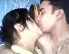 Desi couples giving a kiss